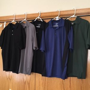 Lot of 5 golf shirts.
